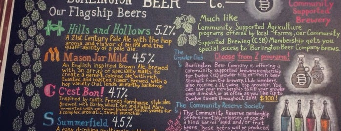 Burlington Beer Co is one of places to go.