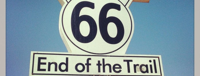 """Santa Monica Route 66 """"End of the Trail"""" is one of Nikki Kreuzer's Offbeat L.A.."""