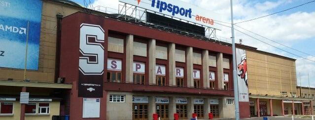 Tipsport Arena is one of Hokejové stadiony.