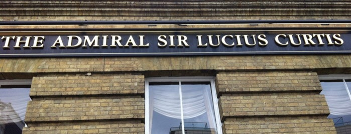 The Admiral Sir Lucius Curtis (Wetherspoon) is one of JD Wetherspoons - Part 1.
