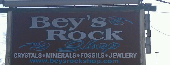 Bey's Rock Shop is one of Local stuff to do.