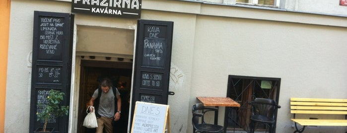 Kavárna Pražírna is one of Prague coffee guide.