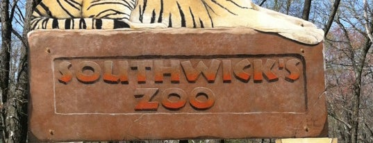 Southwick's Zoo is one of just a list of places.