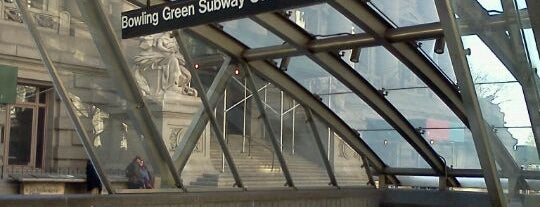 MTA Subway - Bowling Green (4/5) is one of NY.