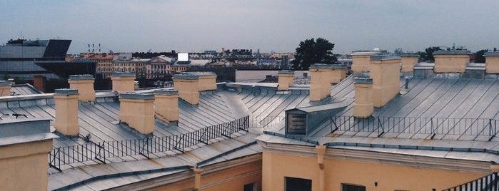 Крыша на Гороховой is one of St. Pete's.