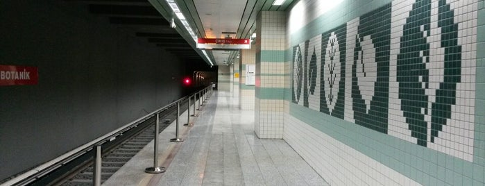Botanik Metro İstasyonu (M3) is one of Ankara Metro İstasyonları | Ankara Subway Stations.