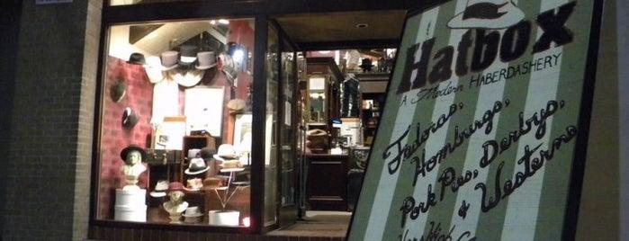 Hatbox: A Modern Haberdashery is one of Austin.