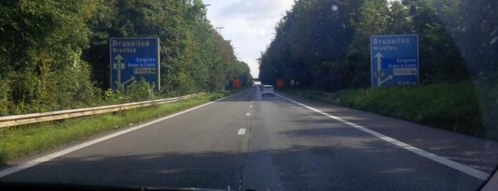 E19 x E42 - Houdeng-Gœgnies is one of Belgium / Highways / E42.