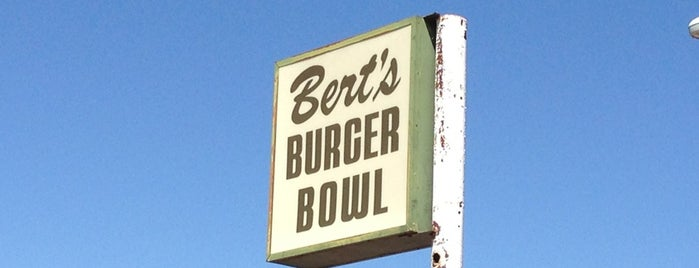 Bert's Burger Bowl is one of DINERS DRIVE-IN & DIVES 3.