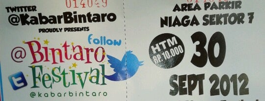 Bintaro Festival is one of My adventure collection !.
