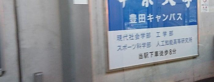 Kaizu Station is one of 愛知環状鉄道.