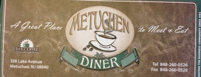 Metuchen Diner is one of Diners of Central Jersey.