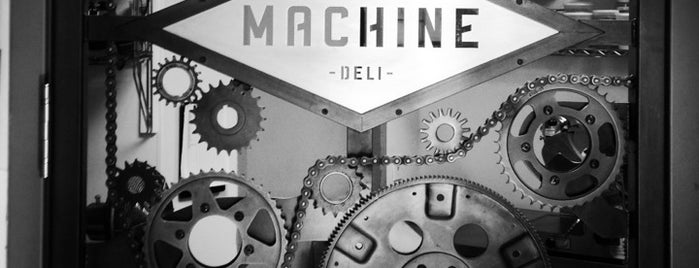 Machine Coffee and Deli is one of For the Love of Caffeine.