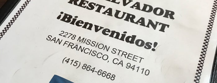El Salvador Restaurant is one of SF Eats to Try.