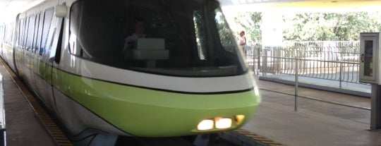 Epcot Monorail Station is one of Disney World!.