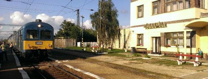 Délegyháza vasútállomás is one of 150-es vonal.
