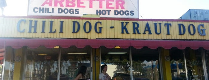 Arbetter Hot Dogs is one of Lukas' South FL Food List!.
