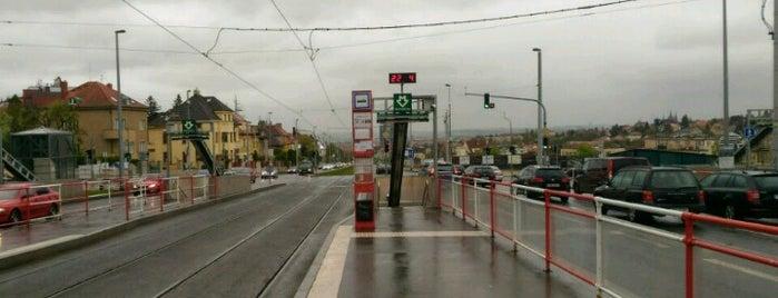 Bořislavka (tram) is one of Prague.