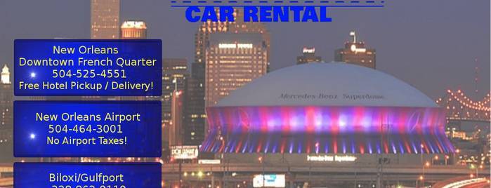 Nifty Car Rental is one of The 15 Best Places with Good Service in New Orleans.