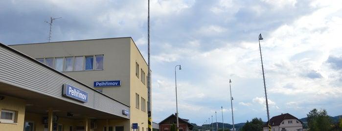 Železniční stanice Pelhřimov is one of Železniční stanice ČR: P (9/14).