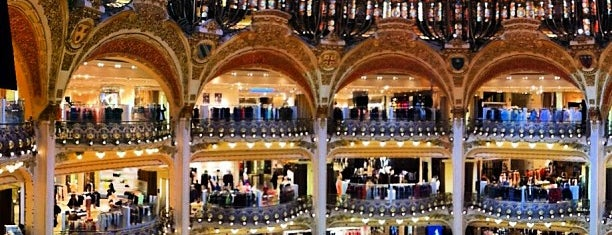 Galeries Lafayette Haussmann is one of Paris.