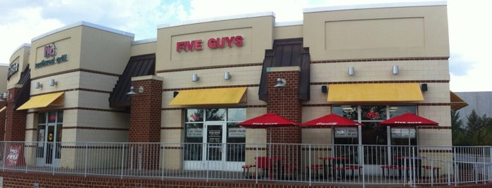 Five Guys is one of Fave Eats.