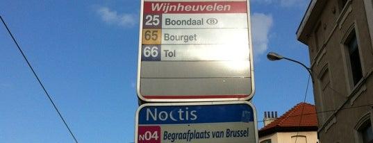 Coteaux / Wijnheuvelen (STIB / MIVB) is one of Belgium / Brussels / Tram / Line 25.