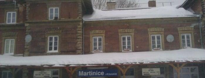 Železniční stanice Martinice v Krkonoších is one of Železniční stanice ČR: M (7/14).