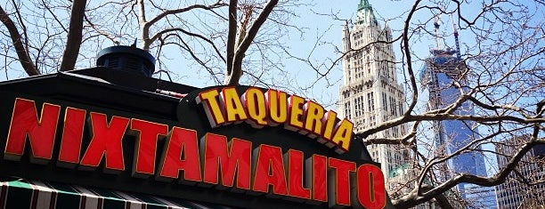 Nixtamalito Kiosk is one of Real Cheap Eats NYC.