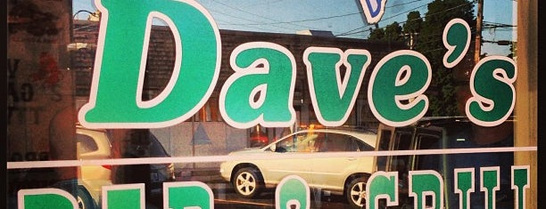 Dave's Bar & Grille is one of just a list of places.