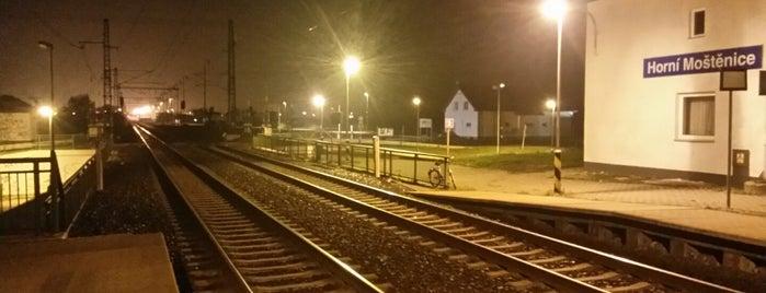 Železniční zastávka Horní Moštěnice is one of Železniční stanice ČR: H (3/14).