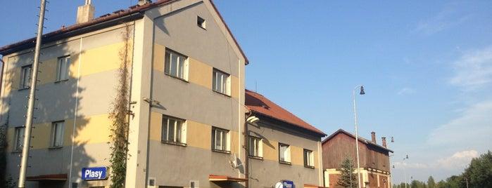 Železniční stanice Plasy is one of Železniční stanice ČR: P (9/14).