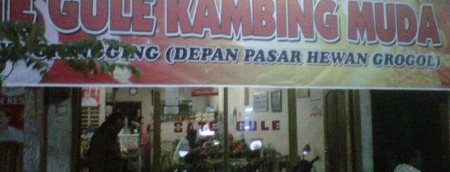 Sate Gule Kambing Muda Grogol is one of Kuliner di Kediri.