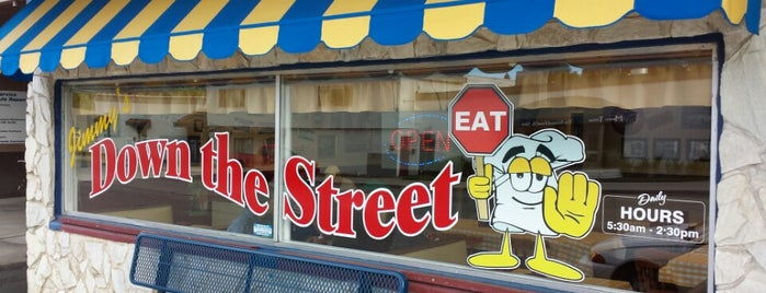 "Jimmy's Down The Street is one of ""Diners, Drive-Ins & Dives"" (Part 1, AL - KS)."