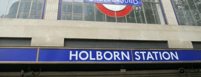 Holborn London Underground Station is one of Railway stations visited.