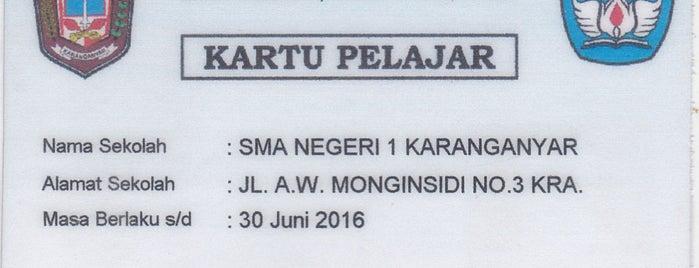 SMAN 1 Karanganyar is one of All-time favorites in Indonesia.