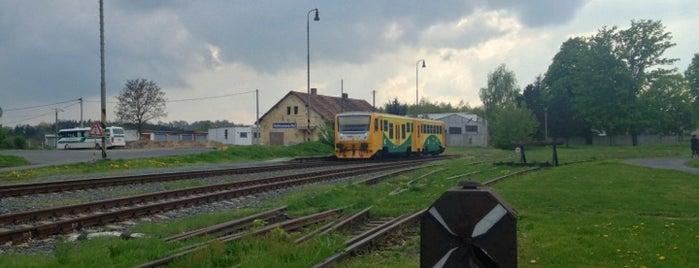 Železniční stanice Heřmanova Huť is one of Železniční stanice ČR: H (3/14).