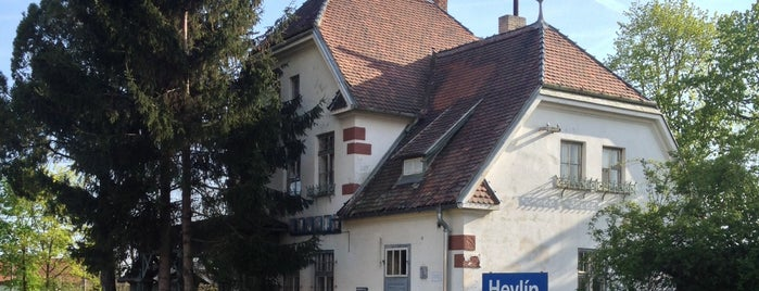 Železniční stanice Hevlín is one of Železniční stanice ČR: H (3/14).