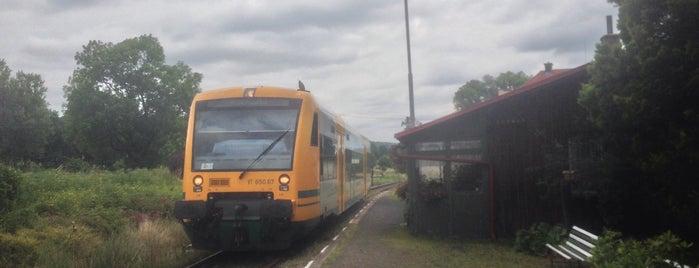 Železniční zastávka Horní Podluží is one of Železniční stanice ČR: H (3/14).