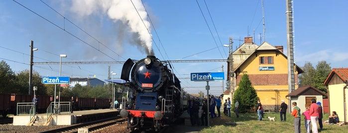 Železniční stanice Plzeň-Křimice is one of Železniční stanice ČR: P (9/14).
