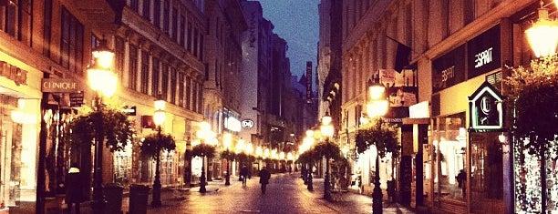 Váci utca is one of Budapest.