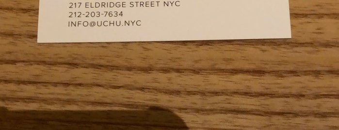 Uchu is one of Michellin-Starred Restaurants in Manhattan 2018.