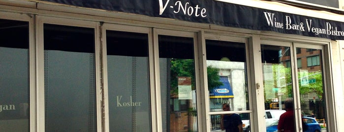 V-Note Vegan Bistro & Wine Bar is one of Veg*n NOMS in and around NYC.