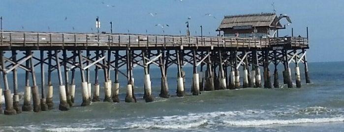 Cocoa Beach Pier is one of Cocoa Beach Fun-Day!.