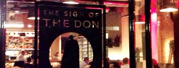 The Sign of the Don is one of London Wine Bars.