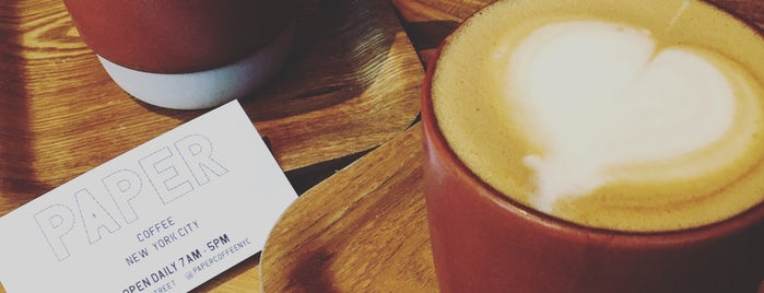 PAPER coffee is one of Foursquare Flatiron - Coffee.