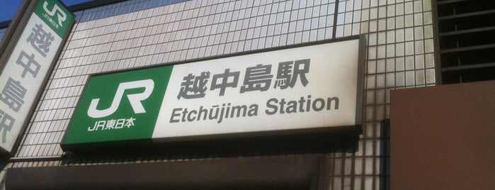 Etchūjima Station is one of 首都圏のJR駅.