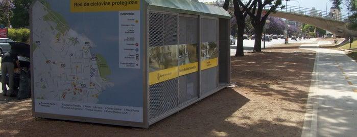 Estación 1 - Facultad de Derecho [Ecobici] is one of Estaciones de Ecobici de la Ciudad de Buenos Aires.