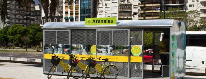 Estación Arenales [Ecobici] is one of Estaciones de Ecobici de la Ciudad de Buenos Aires.