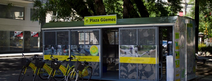 Estación 25 - Plaza Güemes [Ecobici] is one of Estaciones de Ecobici de la Ciudad de Buenos Aires.